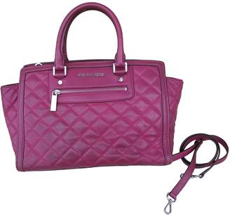 Michael Kors Selma Purple Leather Handbags