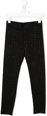 Diesel Rhinestone-Embellished Pull-On Leggings