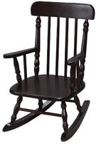 Gift Mark Deluxe Children's Spindle Rocking Chair, Espresso by