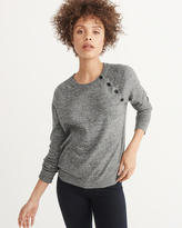 Abercrombie & Fitch Button Crewneck Sweater