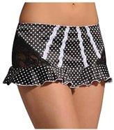 Jezebel Promise Skirt L/Black/White Dot