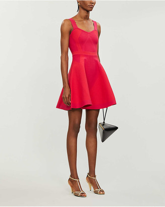Maje Reliefa stretch-ponte mini dress