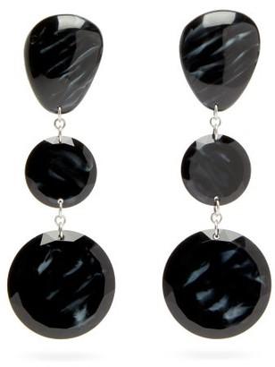 Isabel Marant Carved-resin Drop Earrings - Black
