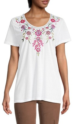 Johnny Was Hulda Embroidered T-Shirt