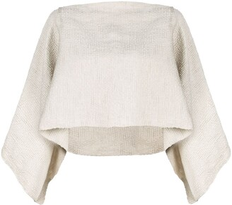 Voz cropped flared sweater