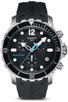 Tissot Seastar Men's Quartz Black Watch with Rubber Strap, 45mm
