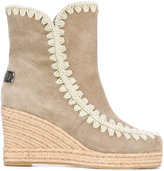 Mou eskimo wedge - women - Cotton/Chamois Leather/Leather/rubber - 36