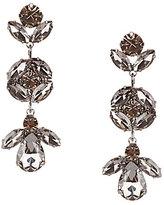 Cezanne Floral Rhinestone Drop Earrings