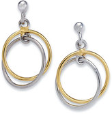 Giani Bernini Sterling Silver and 18k Gold over Sterling Silver Earrings, Double Drop Earrings