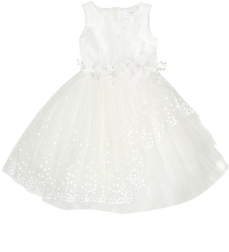 MonnaLisa Embellished tulle dress