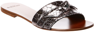 Alexandre Birman Jolie Snake-Embossed Leather Sandal
