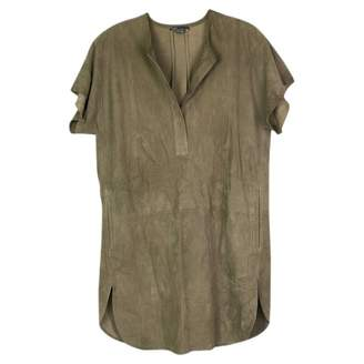Vince \N Khaki Leather Tops