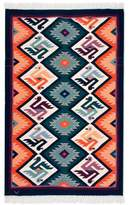 Hand Made Collectible Wool Area Rug (4x6), 'Matrimony'
