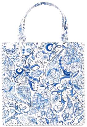 Maryam Nassir Zadeh paisley-print braided bag