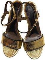 Marni Gold Water snake Sandals