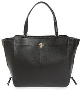 Tory Burch Ivy Leather Satchel - Black