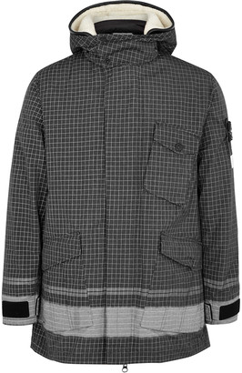 Stone Island Reflective checked ripstop chine jacket
