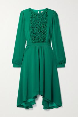 Jason Wu Asymmetric Ruffled Chiffon Dress