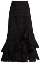 Erdem Cerena ruffled tweed skirt