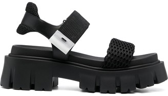 Premiata Chunky Mesh-Panel Sandals