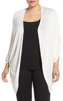 Melissa McCarthy Plus Size Women's Shirred Oval Cardigan
