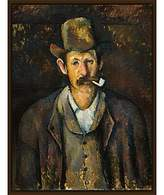 Cezanne The Courtauld Gallery, Paul Man with a Pipe 1892-1895 Print