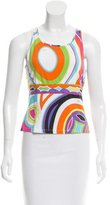 Emilio Pucci Abstract Print Sleeveless T-Shirt