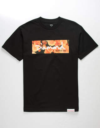 Diamond Supply Co. Wild Flower Box Logo Mens T-Shirt