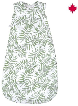 Perlimpinpin Cotton Quilted Sleeping Bag 2.0 Togs TROPICAL GREEN Size 0-6 Months