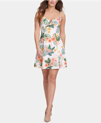 GUESS Floral-Print Fit & Flare Dress