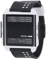 Vestal Men's DIG009 Digichord Black White Polyurethane Digital Watch