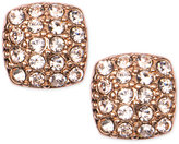 Givenchy Rose Gold-Tone Crystal Pavé Stud Earrings