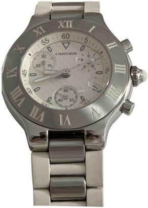 Cartier Must 21 White Steel Watches