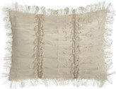 "Dian Austin Couture Home Cameo Ruched Lace Pillow, 12"" x 16"""
