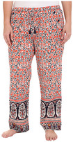 Lucky Brand Plus Size Woven Embroidered Pants