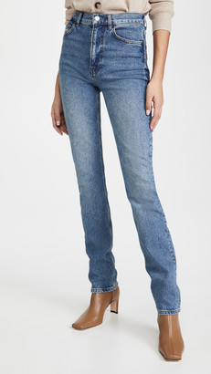 Reformation Liza High Straight Long Jeans