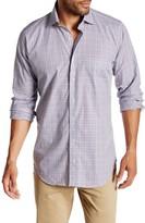 Peter Millar Capri Mini Check Long Sleeve Regular Fit Shirt