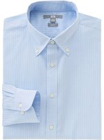 Uniqlo Men Easy Care Stretch Slim Fit Dobby Long Sleeve Shirt