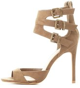 Charlotte Russe Faux Suede Buckled Dress Sandals