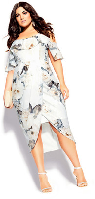 City Chic English Garden Dress - ivory