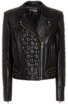 Balmain Studded leather moto jacket