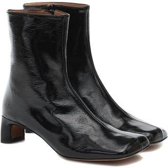 LOQ Monica patent leather ankle boots