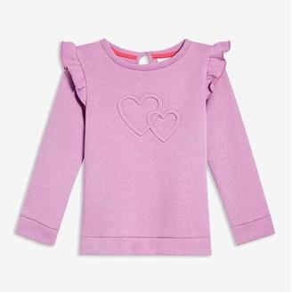 Joe Fresh Baby Girls' Ruffle Shoulder Sweatshirt, Lilac (Size 6-12)