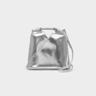 MM6 MAISON MARGIELA Handbag Japanese Xs Micro In Silver Eco Leather