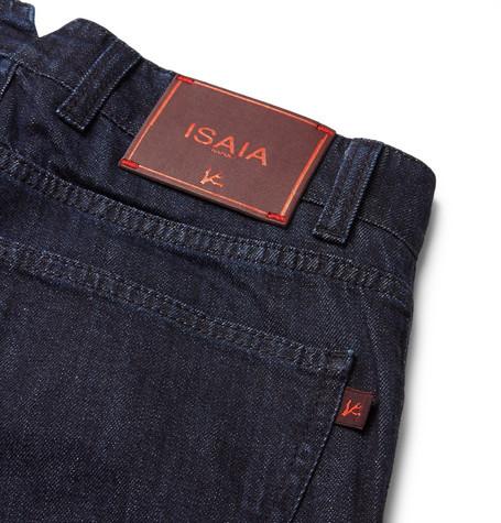 Isaia Slim-Fit Selvedge Stretch-Denim Jeans