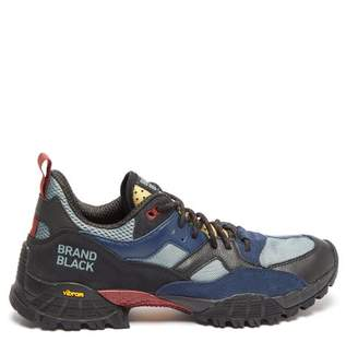 Brandblack Cresta Leather And Mesh Hiking Trainers - Mens - Black Multi