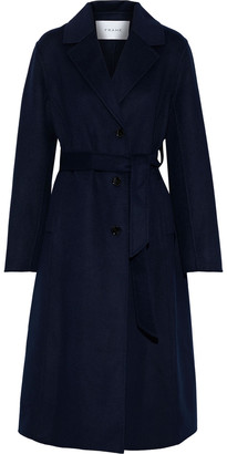 Frame Belted Wool-blend Coat