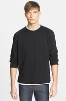 James Perse Men's Raglan Crewneck Sweatshirt