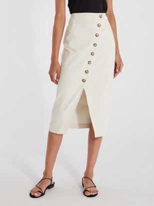 ELLEJAY Karina Corduroy Midi Skirt