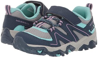Merrell Trail Quest (Toddler) (Navy/Grey/Turquoise) Girl's Shoes